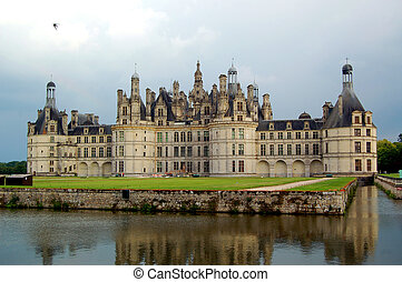 Chambord castle - The royal Chateau de Chambord at Chambord,...