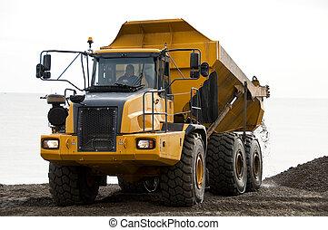 A dump truck