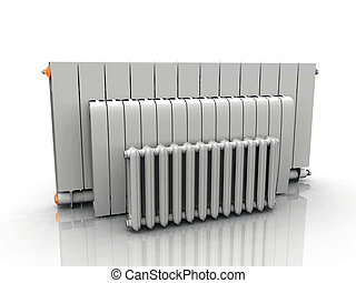 White heating columns