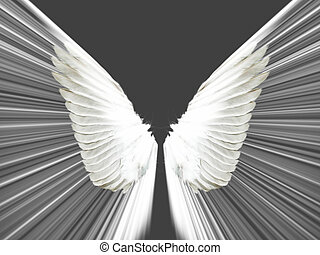 Graphic distortion of a dove