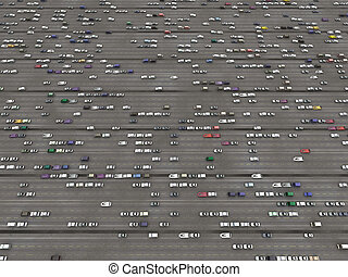 Overhead of a parking lot