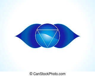 detailed brow chakra vector illustration