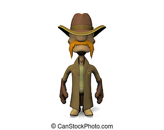 Computer generated full body image of wild-west sheriff