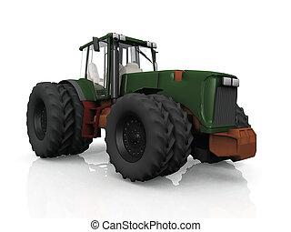 zagroda, traktor