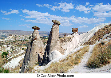 Fairy chimneys in Cappadocia - The interesting rock...
