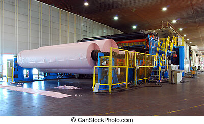 Paper and pulp mill - detail of Fourdrinier Paper Machine....