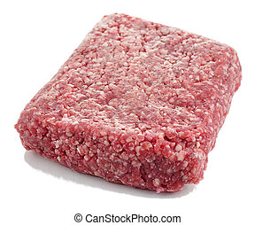 ground beef - ground meat on white background