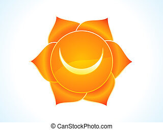 detailed sacral chakra vector illustration