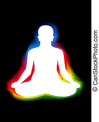 colorful aura of body vector illustration
