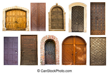 Old vintage doors from Lviv - Different collection of old...