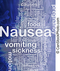 Nausea background concept - Background concept wordcloud...