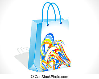abstract colorful shopping bag vector illustration
