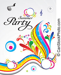 abstract summer party background concept vector illustration