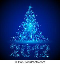 Abstract design. Christmas tree.