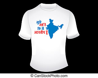 abstract indian proud tshirt design vector illustration