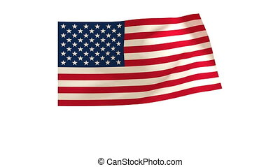 American Flag 014 - The American flag animates