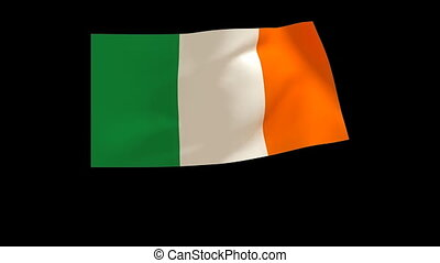 Ireland flag 015 - The Ireland flag animates