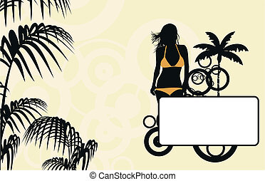 tropical hawaii girl background3 - tropical hawaii girl...