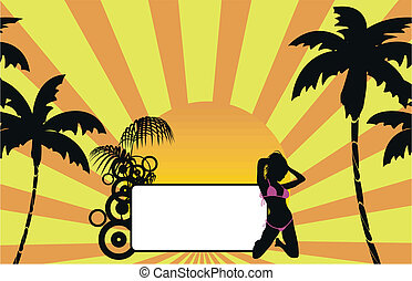 tropical hawaii girl background5