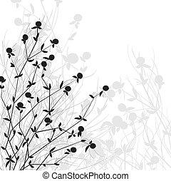 buisson, sauvage, fleurs