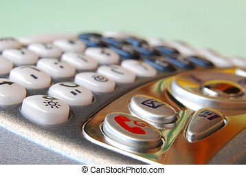 Cell Phone: Details of the keyboard - Smartphone isolated...