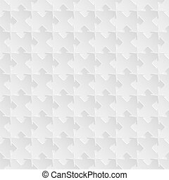 Vector seamless gray puzzle background