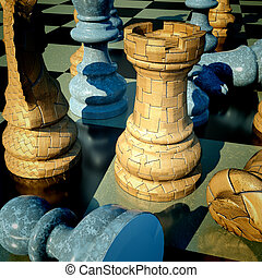 Chess battle - defeat