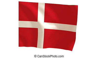 Danish flags 018 - The Danish flag animates