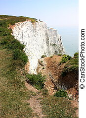 Dover Cliffs - A view over the white cliffs of Dover in...