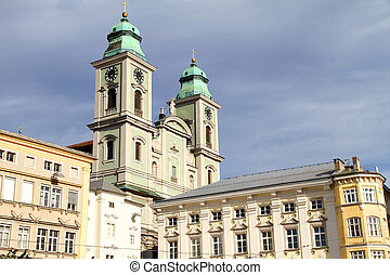 Historical building in Linz - Historical building in the...