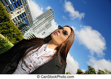 Business Woman in Puerto Madero - Portrait of a business...