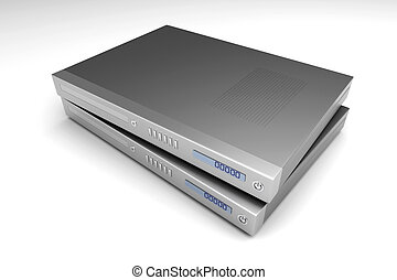 Blu ray devices - Two generic bluray devices. 3D rendered...