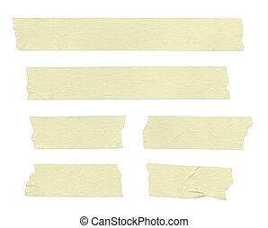 Masking Tape - Strips of masking tape Isolated on white...