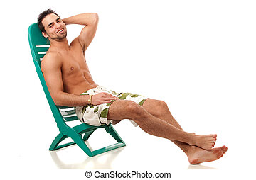 Man in Swimwear