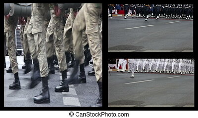 montage soldier - mixed army passed ceremony