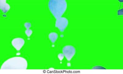 Hot_Air_Balloons_Greenscreen_HD - Computer generated...