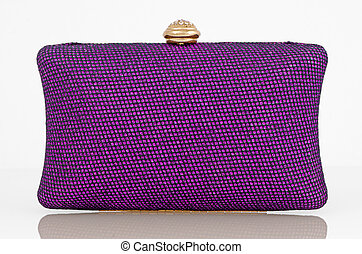Clutch bag - Elegant purple clutch bag.