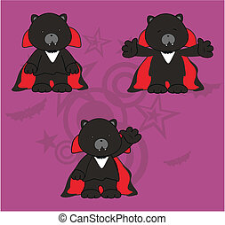 panther dracula cartoon set6
