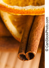 Dried orange and cinnamon sticks - christmas decoration