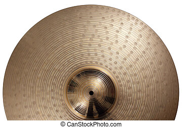 Ride cymbal background - Photo of a ride cymbal as a...