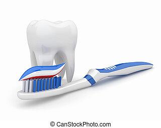 dent, brosse dents, 3D
