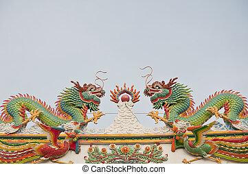 ikergyermek, kínai, sárkány