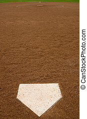 Softball Diamond - Directly behind home at a softball...