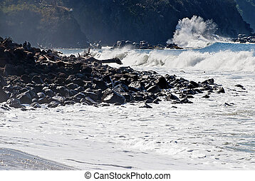 Rugged Pacific Ocean coast - Rugged Mexican Pacific Ocean...