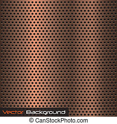 Vector image of a metallic copper background texture.