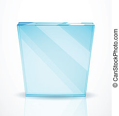 Vector glass plates - Vector illustration for your design