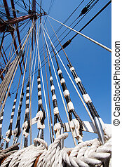 Sail ship ropes