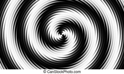 Hypno circle - Black and white hypnosis circle seamless loop...