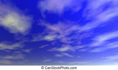 Clouds (seamless loop) - Clouds motion background (seamless...