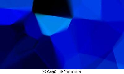 Blue mosaic (seamless loop)